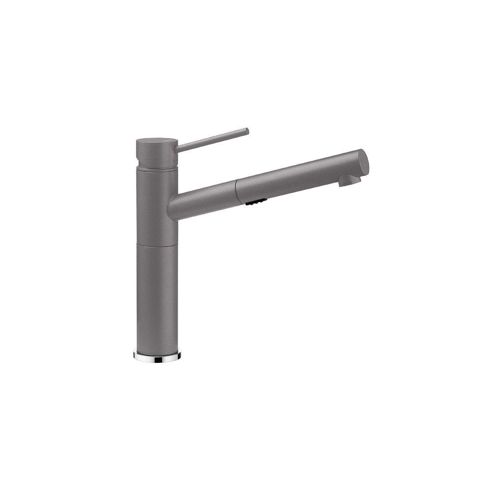 Blanco Alta Pull-Out Dual Spray Kitchen Faucet - Metallic Gray Finish