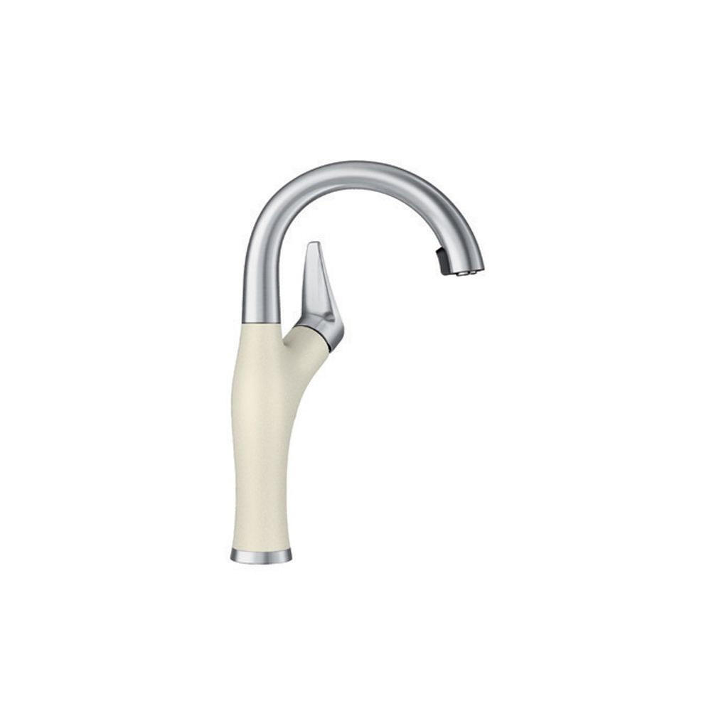 Blanco Artona Pull Down Bar Prep Faucet - Stainless Steel and Biscuit Dual Finish