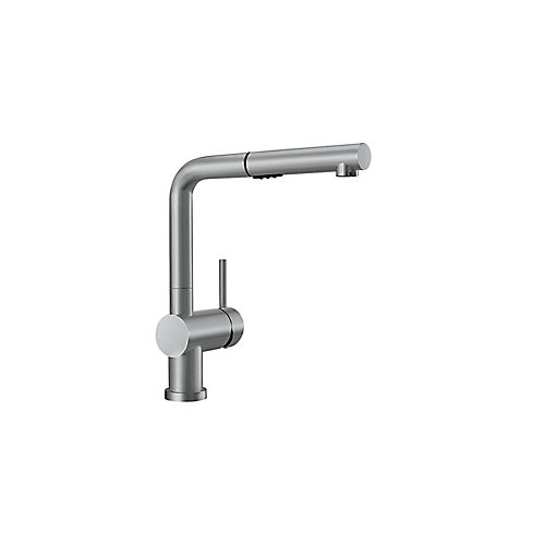 Posh Pull Out Dual Spray Kitchen Faucet - Stainless Steel Finish
