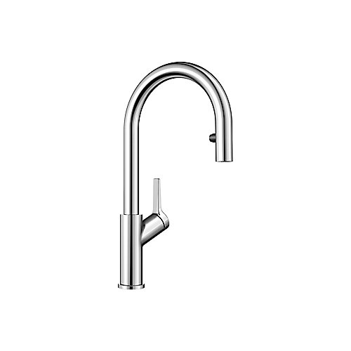 Urbena Pull Down Dual Spray Kitchen Faucet - Chrome Finish