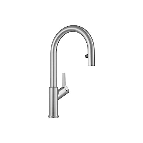 Urbena Pull Down Dual Spray Kitchen Faucet - Stainless Steel Finish