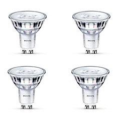 LED 50W GU10 Glass Daylight (5000K) - Case of 4 Bulbs