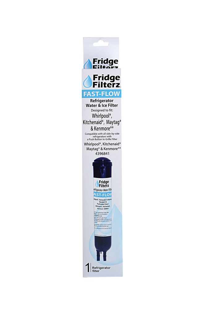 Fridge Filterz Fast Flow Whirlpool 4396841, PUR 2260515, KitchenAid & Maytag Replacement Water & Ice Filter