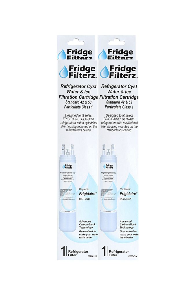 Fridge Filterz Frigidaire ULTRAWF Replacement Refrigerator Water & Ice Filer - 2 Pack