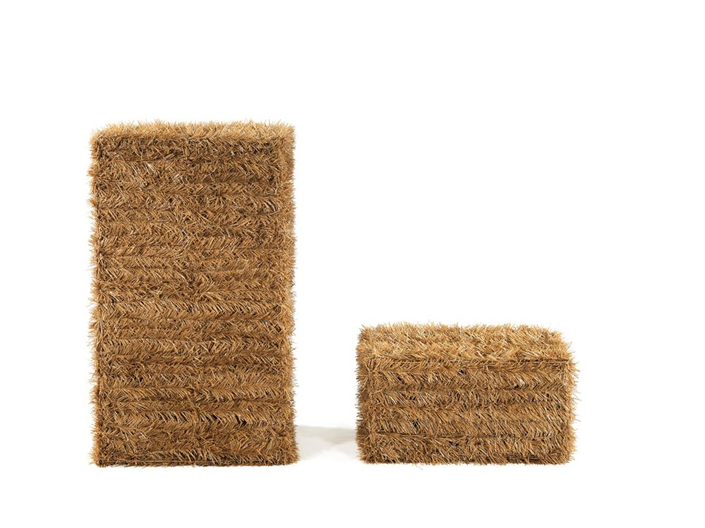 Bales of Hay Harvest or Halloween Decoration (Set of 2)