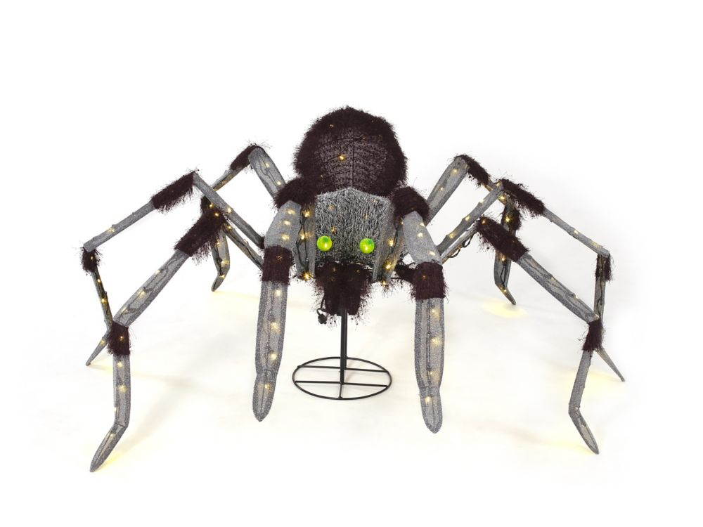 HAL 60-inch Animated Giant Spider Halloween Decoration