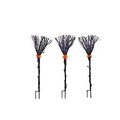 Grapevine Black Broom Loween Décoration (Ensemble de 3)
