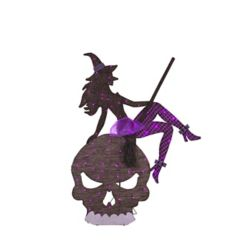 HAL 65-inch Witch And Skull Loween Decoration