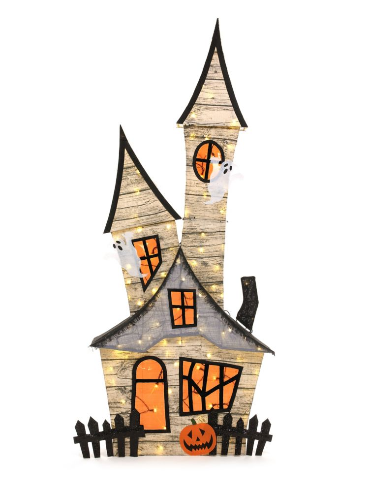 HAL 80-inch Haunted House Halloween Decoration