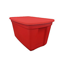 Edge Plastics Plastic Tote in Red, 76 L