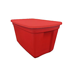 Plastic Tote in Red, 76 L