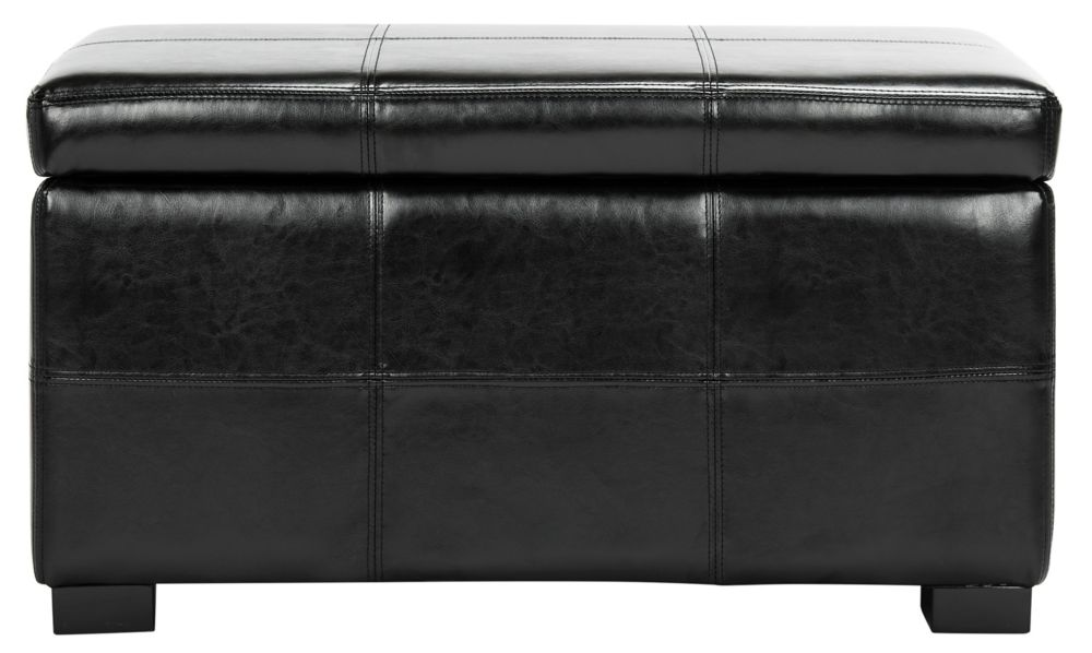 Safavieh Madison Storage Bench in Black