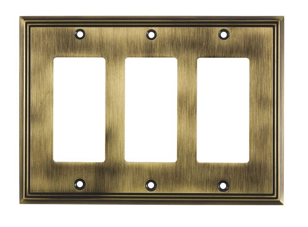Richelieu Switch plate 3 Decora - Contemporary Style