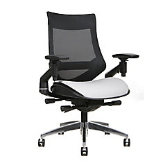 Mesh Mid Back and Bonded Leather Seat Office Chair