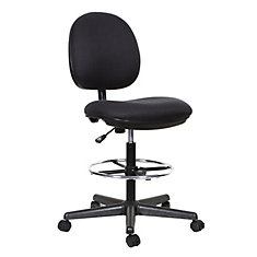 TygerClaw Mid Back Fabric Office Stool Chair