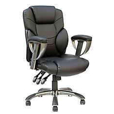 TygerClaw Chaise De Bureau En Cuir Coll Haut Gamme