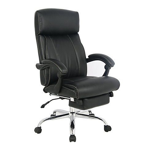 Tygerclaw Executive High Back Pu Leather Office Chair The Home Depot Canada