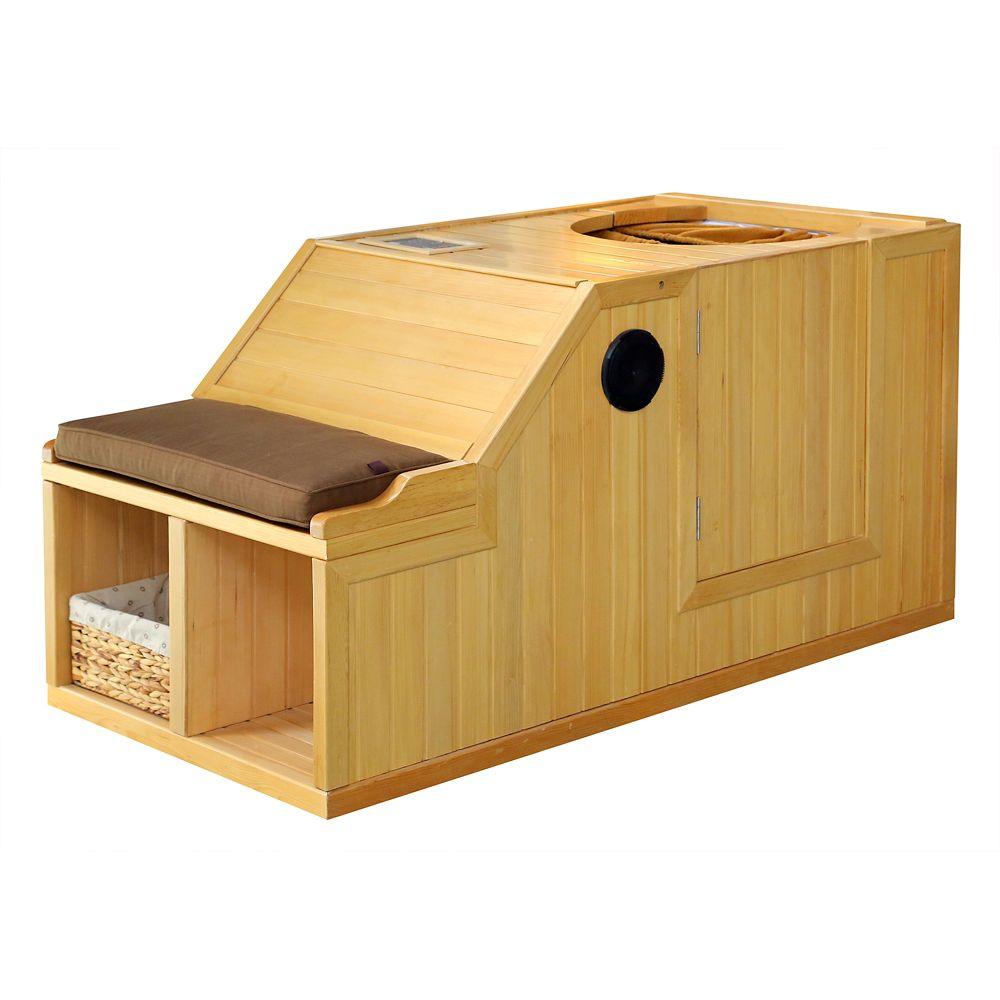 Serenity Hemlock Infrared Half Sauna
