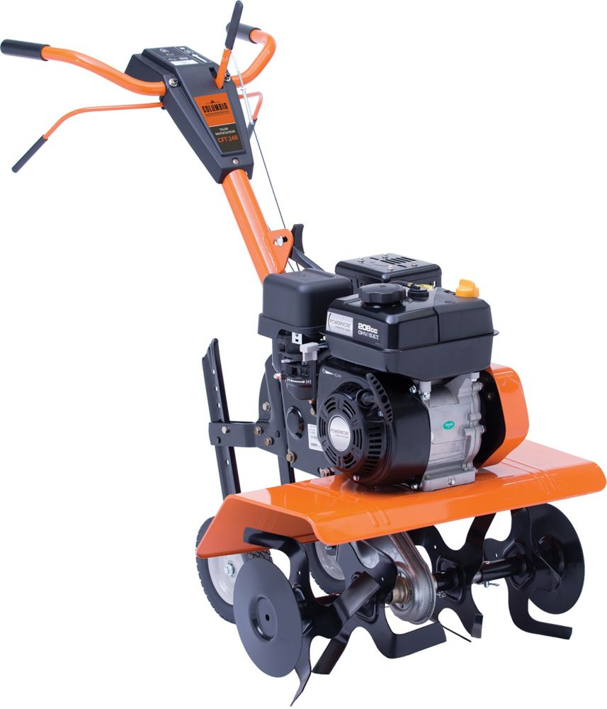 Sun joe 13 5 amp 16 inch electric tiller cultivator with 5 for Small dc motor home depot