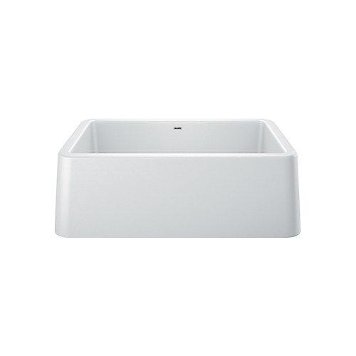 IKON® Apron Front Farmhouse Kitchen Sink - White SILGRANIT Granite Composite