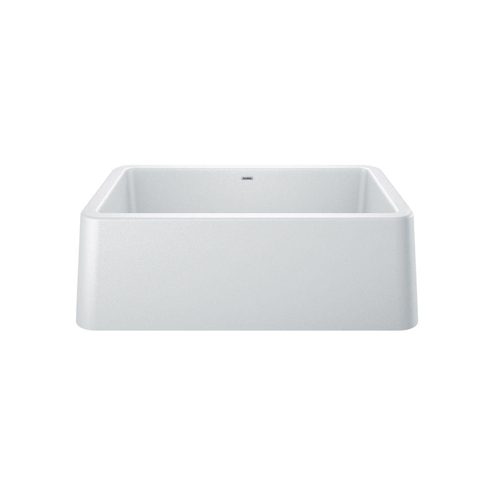 Blanco IKON® Apron Front Farmhouse Kitchen Sink - White SILGRANIT Granite Composite
