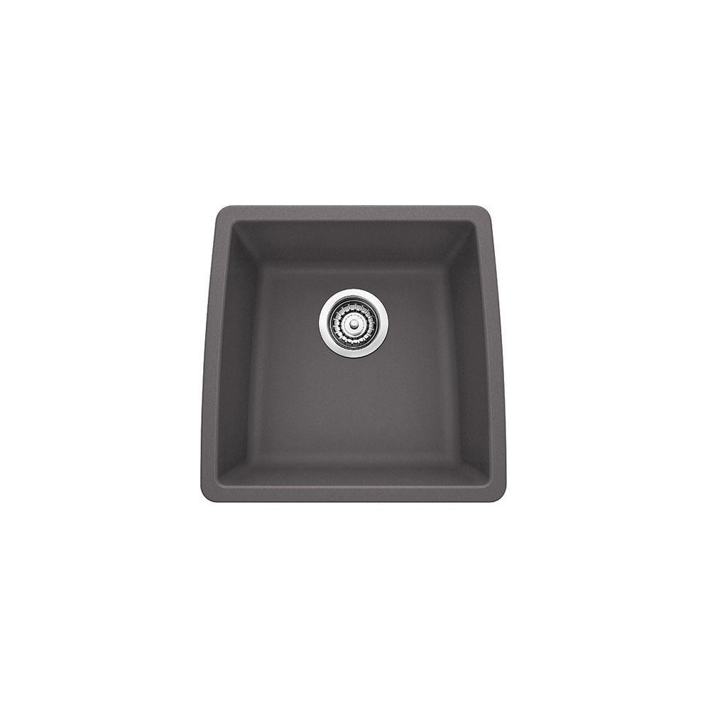 Blanco Performa U Bar Prep Undermount Sink - Cinder SILGRANIT Granite Composite