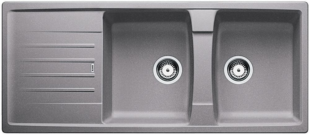 Blanco Lexa 8S Top Mount Kitchen Sink - Metallic Gray SILGRANIT Granite Composite