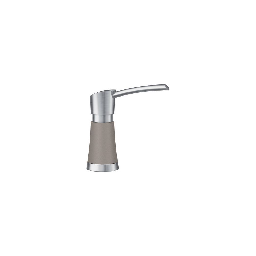 Blanco Artona Soap Dispenser - Stainless Steel and Truffle Dual Finish