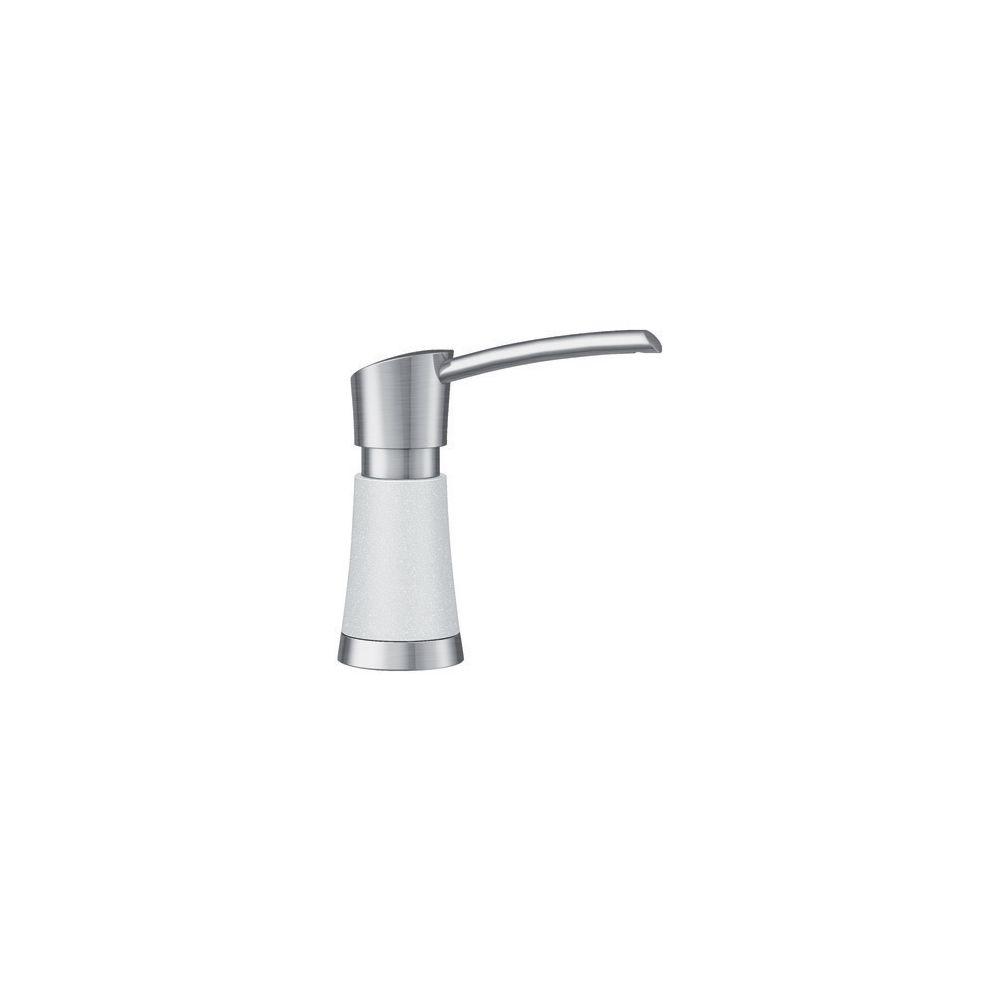Blanco Artona Soap Dispenser - Stainless Steel and White Dual Finish