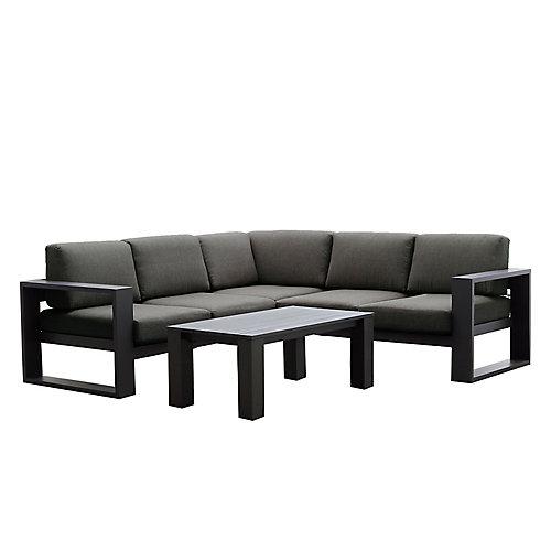 Ensemble de sièges sectionnels en aluminium 4 pièces Cassara