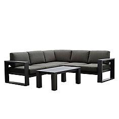 Cassara 4-Piece Aluminum Outdoor Sectional Seating Set