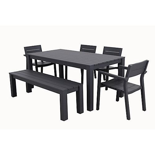 Cassara 6-Piece Aluminum Outdoor Dining Set