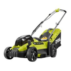RYOBI 18V ONE+ 13-inch Lithium-Ion Cordless Battery Walk Behind Push Lawn Mower with 4.0 Ah Battery