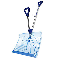 SHOVELUTION 18 inch Strain-Reducing Snow Shovel w/ Spring Assisted Handle