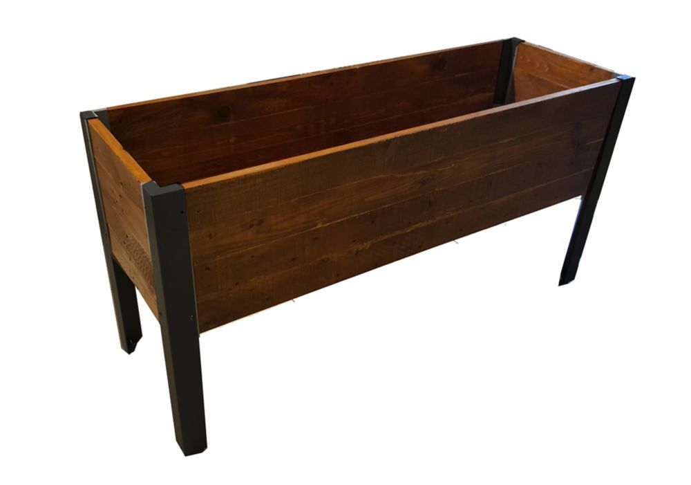 grapevine grand bac de plantation urban en bois recycl home depot canada. Black Bedroom Furniture Sets. Home Design Ideas