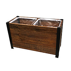 2 Section Urban Garden Recycled Wood Planter Box