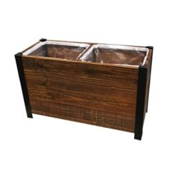 Grapevine 2 Section Urban Garden Recycled Wood Planter Box