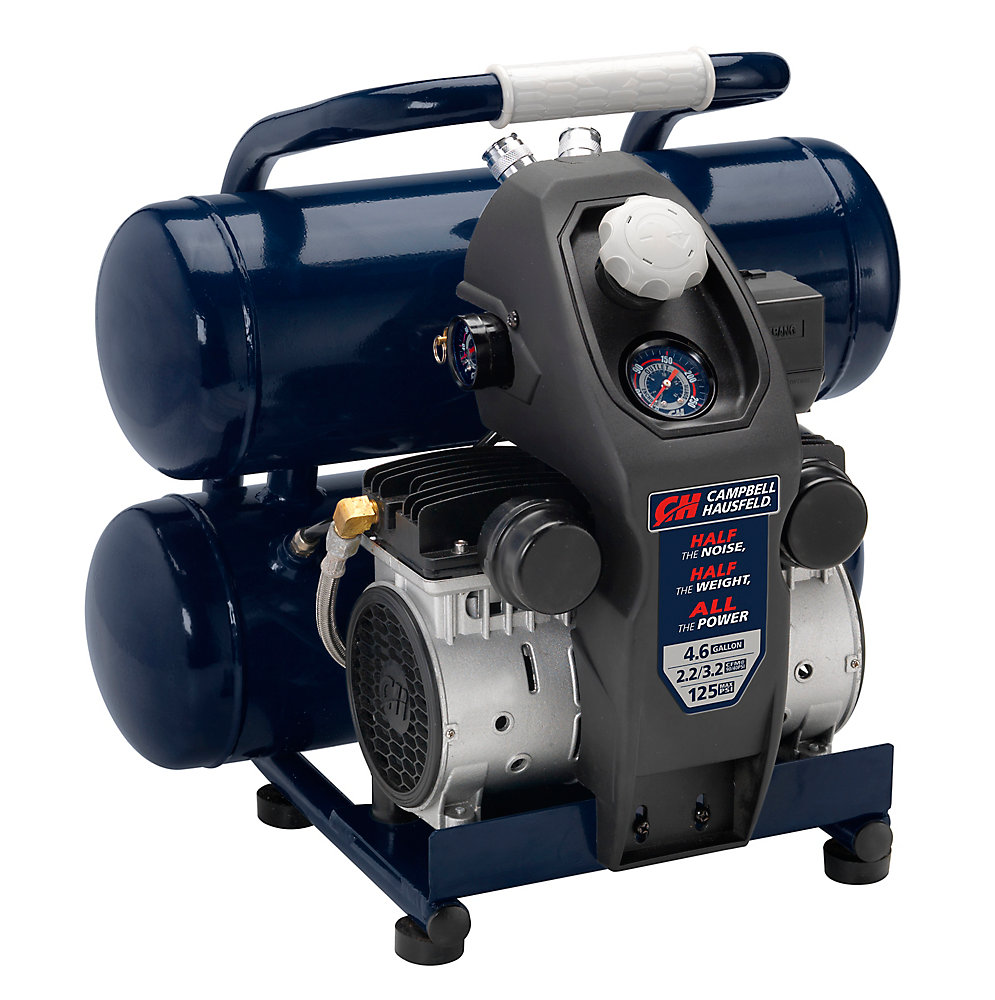 Quiet Air Compressor Lightweight 4 6 G, Half the Noise & Weight 4X Life