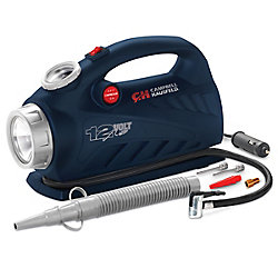 Campbell Hausfeld 2-in-1 Inflator, 12 Volt for Raft & Tire Inflation, LED Light, 150 PSI