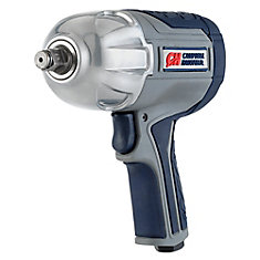 GSD 1/2-inch 750 ft. lbs. Max Torque Twin Hammer Air Impact Wrench with Composite and Comfort Grip