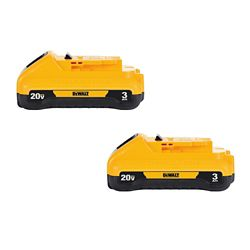DEWALT 20V MAX Lithium-Ion Compact Battery Pack 3.0Ah (2-Pack)