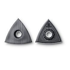 Starlock Unperforated Triangular Sanding Pads 2-Pack
