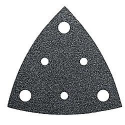 FEIN Perforated Triangular Sandpaper alu oxide grit 60 - (50-Pack)