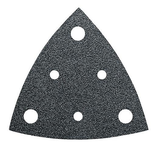 FEIN Perforated Triangular Sandpaper alu oxide grit 180 - (50-Pack)
