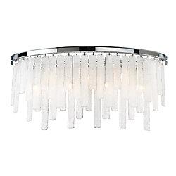 Eurofase Collection Candice, barre d'éclairage de salle de bains chrome à 7ampoules