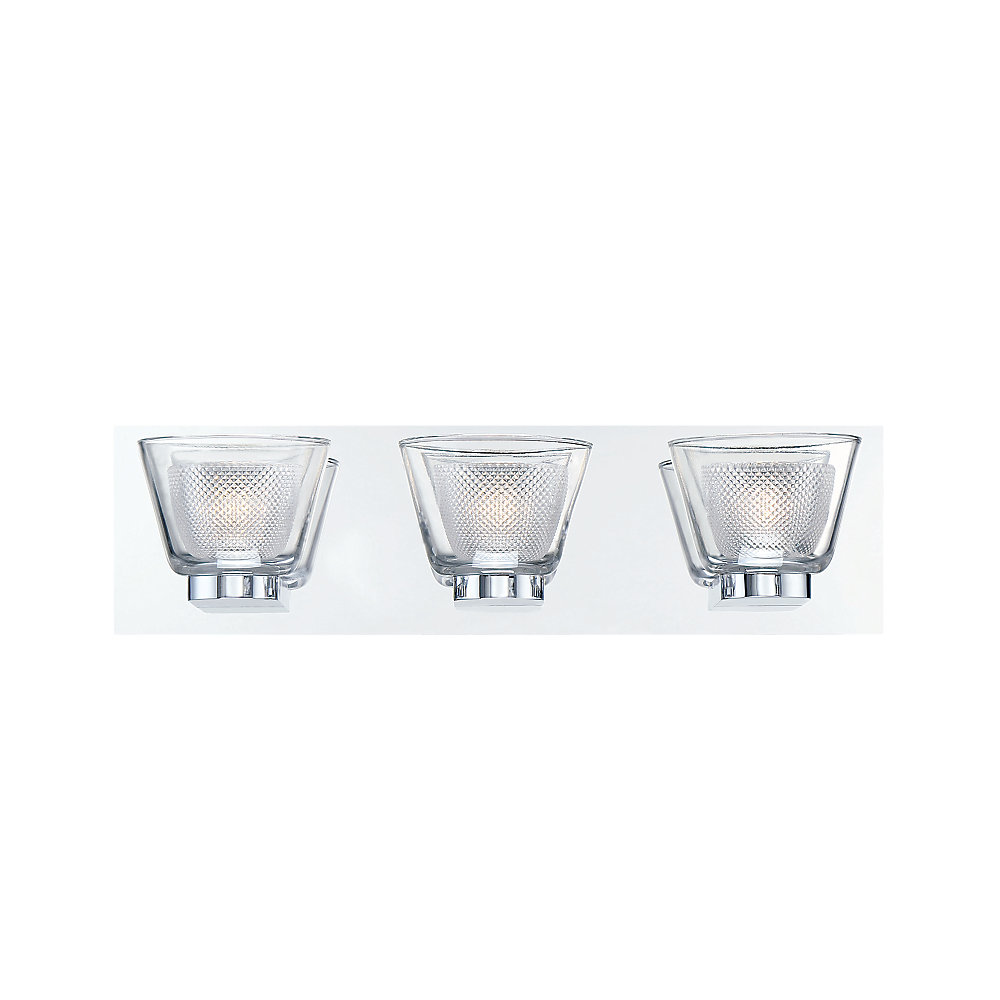 Trent Collection, 3-Light LED Chrome Bath Bar