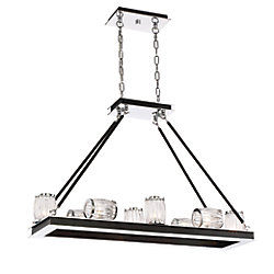 Barile Collection, 10-Light Chrome Chandelier