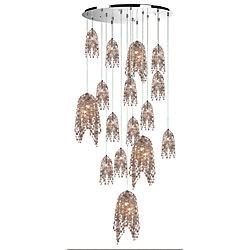 Eurofase Danza Collection, 20-Light Chrome Chandelier