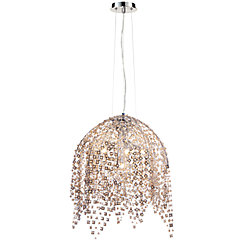 Danza Collection, 6-Light Chrome Chandelier