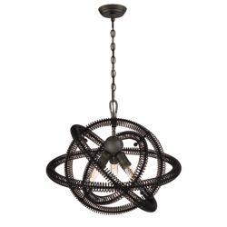 Eurofase Orbita Collection, 3-Light Bronze Chandelier